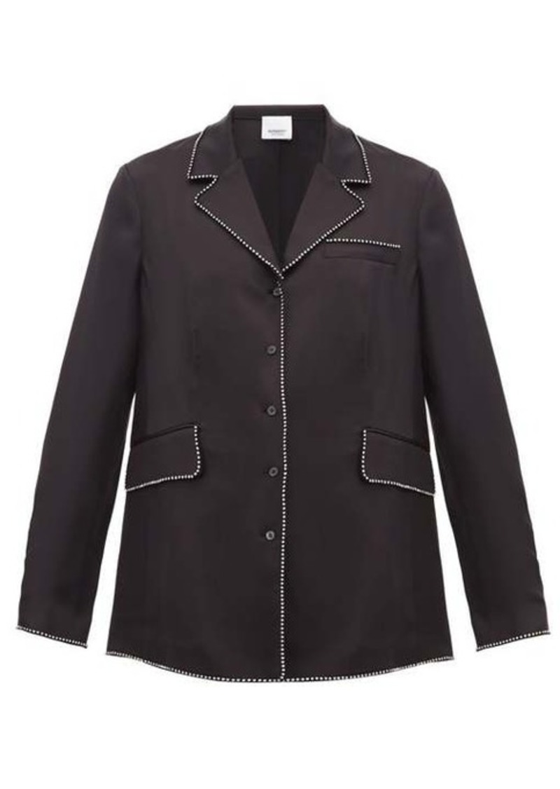 Burberry Crystal-trimmed silk blouse