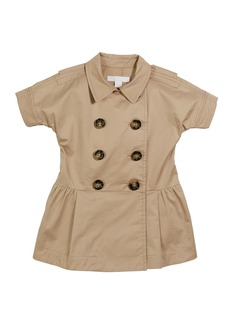 Burberry Cynthie Short-Sleeve Double-Breasted Button Dress  Size 12M-2