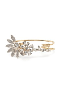 Burberry Daisy and crystal-embellished double ring