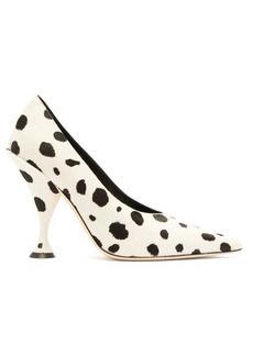 Burberry Dalmatian-print calf-hair pumps