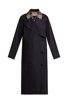 Burberry Danson checked-insert cotton trench coat