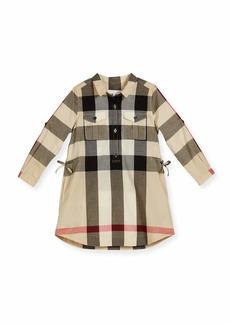 Burberry Darielle Long-Sleeve Check Shirtdress