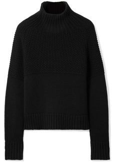 Burberry Dawson honeycomb and ribbed cashmere sweater