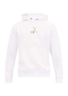 Burberry Deer-print cotton hooded sweatshirt