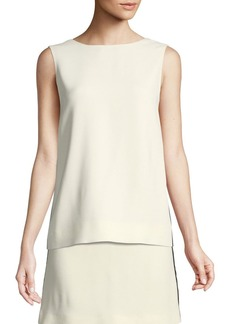 Burberry Derora Crepe Side-Striped Top