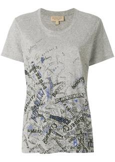 Burberry doodle print T-shirt - Grey