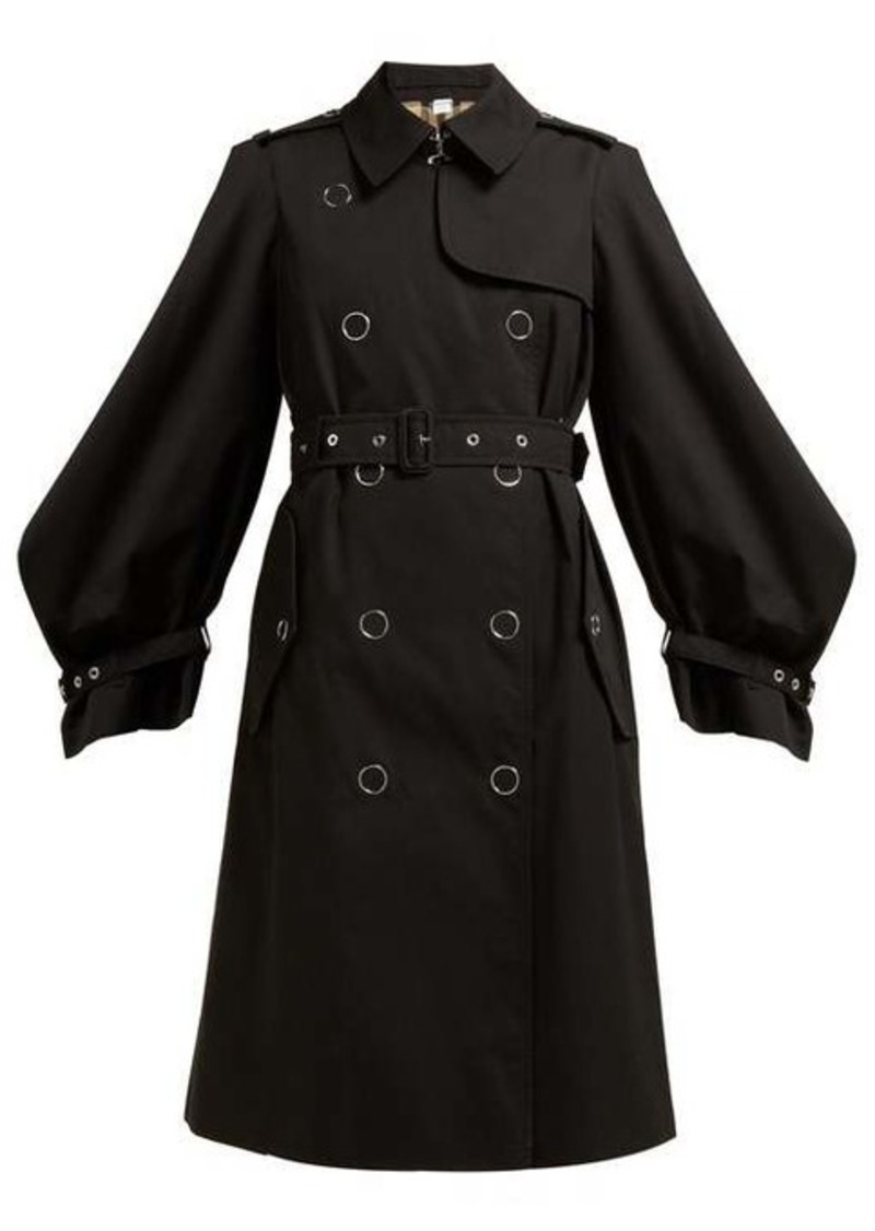 Burberry Double-breasted cotton-gabardine trench coat
