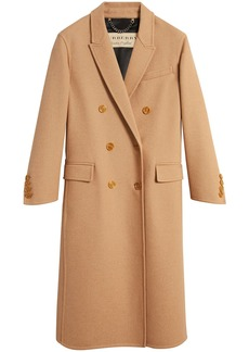 Burberry Double Camel Hair Tailored Coat - Nude & Neutrals