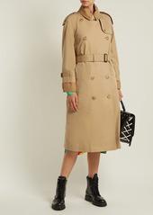 Burberry Double-layer cotton-gabardine trench coat