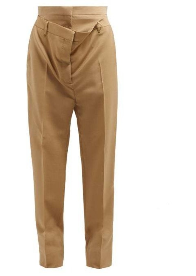 Burberry Double-waist mohair-blend poplin trousers