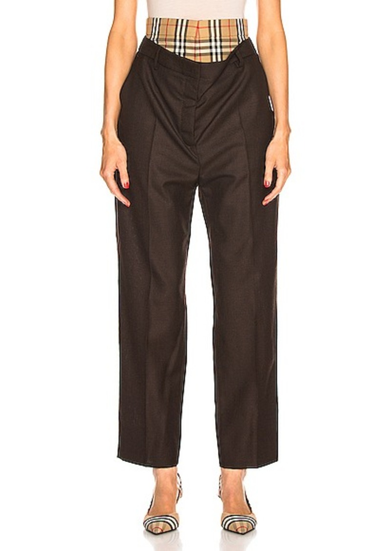 Burberry Double Waist Pant