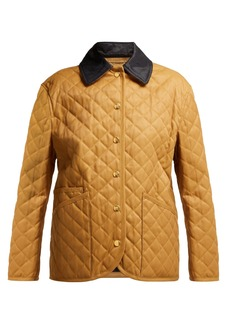 Burberry Dranefield single-breasted diamond-quilted jacket
