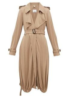 Burberry Drawstring-hem jersey trench coat