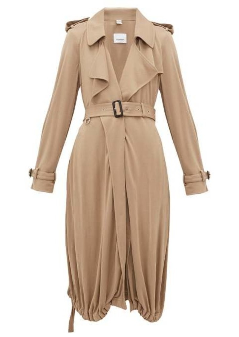 Burberry Drawstring-hem jersey trench coat