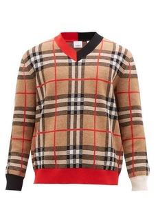 Burberry Duggan check-jacquard merino-wool sweater