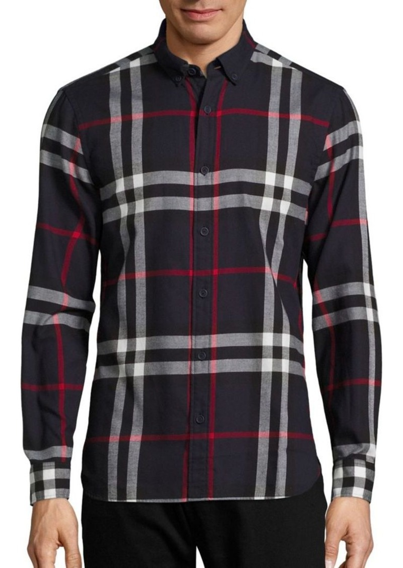 Burberry Ecclestone Plaid Button-Down Shirt