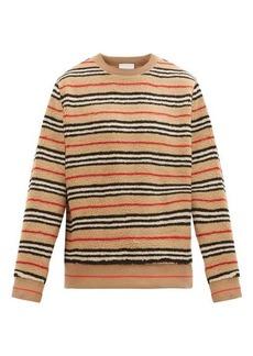 Burberry Edson Icon-striped fleece sweater
