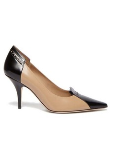 Burberry Eldmon brogue-style two-tone leather pumps
