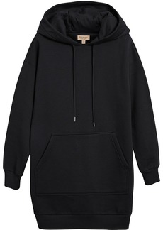 Burberry embroidered hood sweatshirt dress - Black