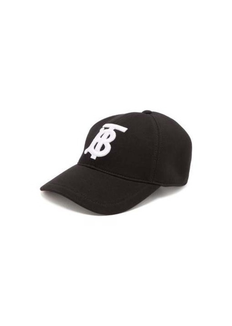 Burberry Embroidered monogram cotton-jersey cap