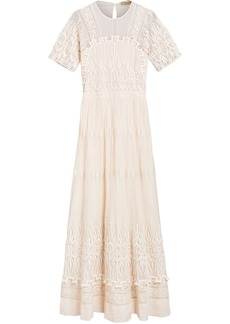 Burberry embroidered tulle dress - White