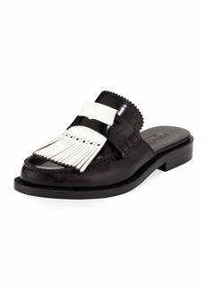 Burberry English Icons Fringe Loafer Mule
