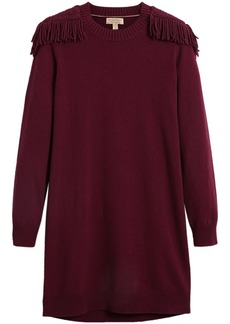 Burberry epaulette detail jumper dress - Red