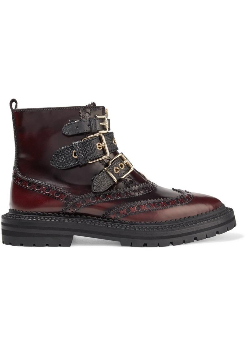 4d08d456915a Burberry Burberry Everdon buckled ombré leather ankle boots