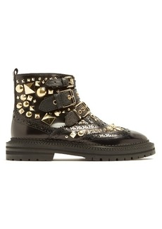 Burberry Everdon stud-embellished leather ankle boots
