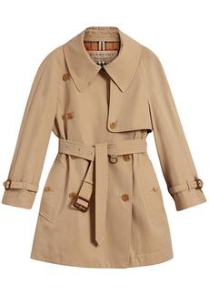 Burberry exaggerated collar cotton gabardine trench coat