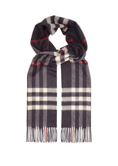 Burberry Exploded-check cashmere scarf