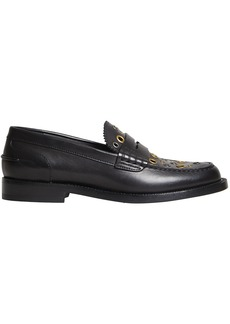 Burberry Eyelet Detail Penny loafers - Black