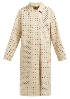 Burberry Eyelet-embellished cotton-gabardine overcoat