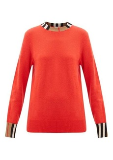 Burberry Eyre Icon-striped cashmere sweater