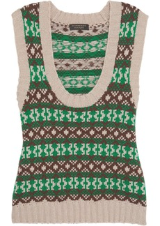 Burberry Fair Isle cashmere and wool-blend vest