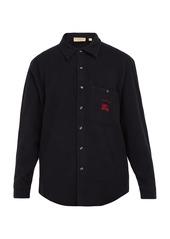 Burberry Fairfield wool-blend shirt