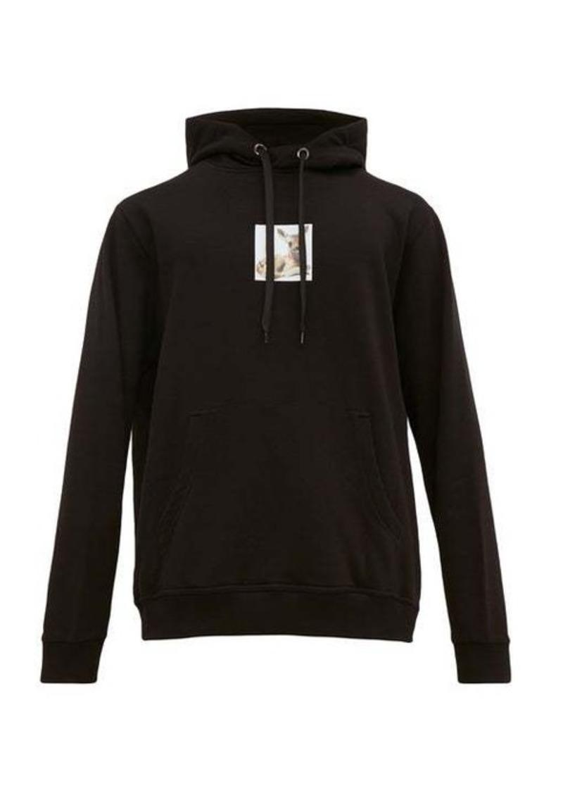 Burberry Fawn-print cotton-jersey hooded sweatshirt