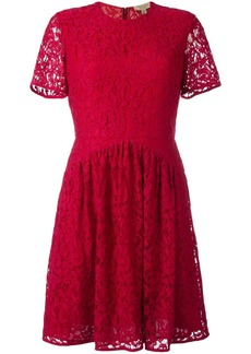 Burberry fit-and-flare lace dress - Red