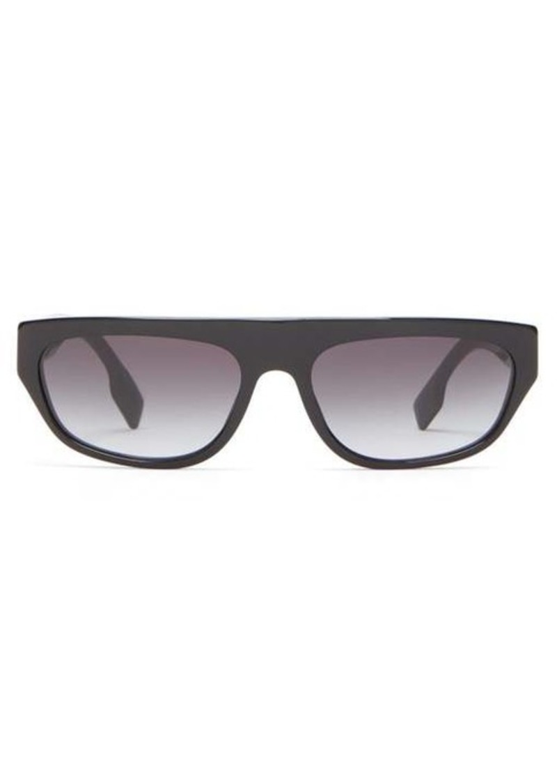 Burberry Flat-top rectangular acetate sunglasses