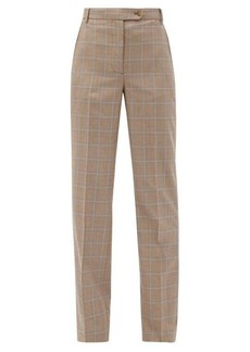 Burberry Fleur checked wool trousers
