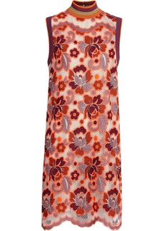 Burberry Floral Crochet Shift Dress - Multicolour