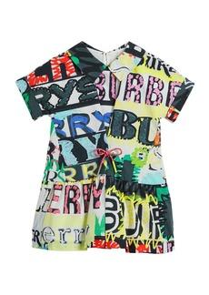 Burberry Forever Logo-Print Short-Sleeve Dress  Size 4-14