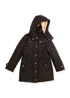 Burberry Foxmoore Hooded Quilted Trenchcoat