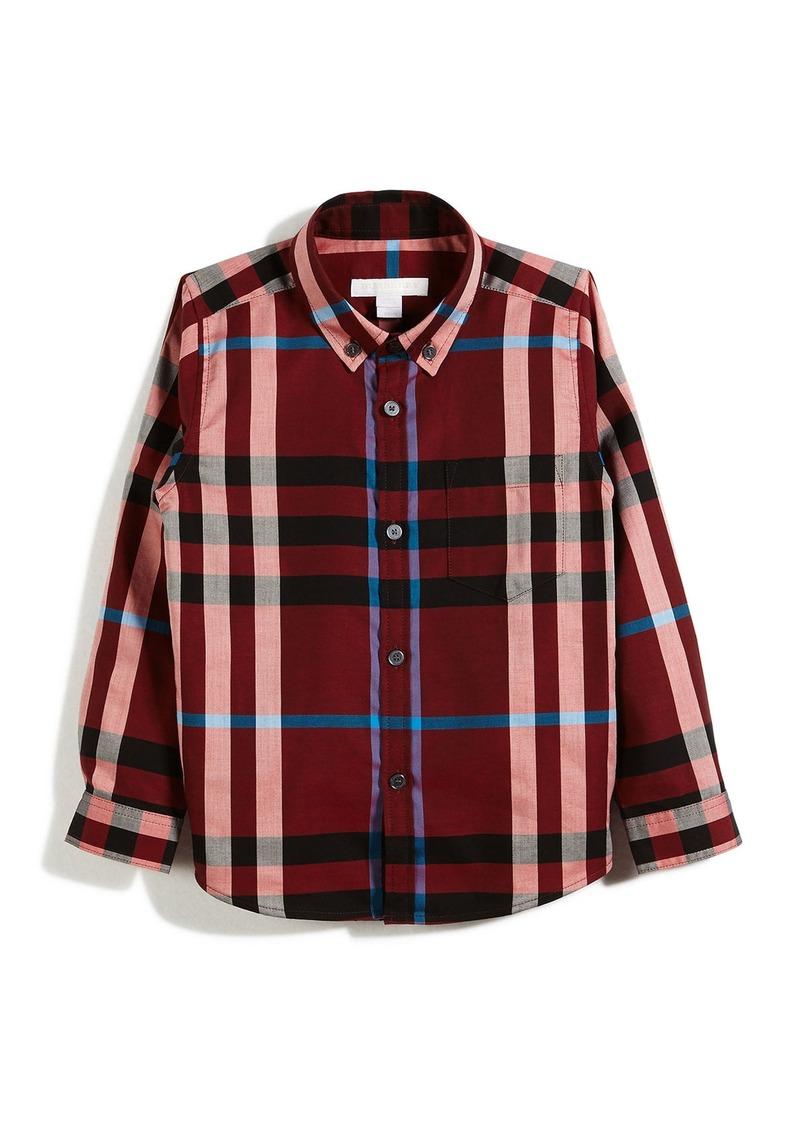 d8038449 Burberry Burberry Fred Mini Long-Sleeve Check Shirt | Shirts