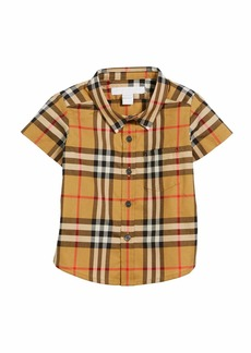 Burberry Fred Short-Sleeve Check Shirt  Size 6M-2