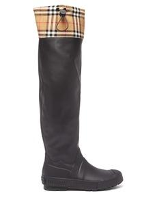 Burberry Freddie Vintage-check rain boots