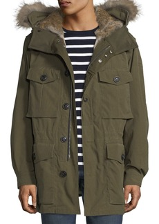 Burberry Fur-Lined Parka Coat