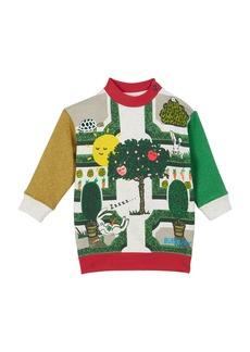 Burberry Garden Maze Colorblock Sweatshirt Dress  Size 12M-2