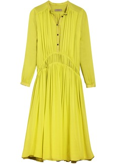 Burberry gathered georgette dress - Unavailable