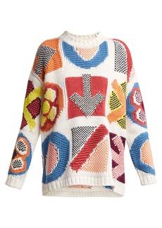 Burberry Geometric-instarsia wool-blend sweater